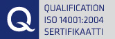 Qualification ISO 14001:2004 Sertifikaatti