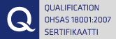 Qualification OHSAS 18001:2007 Sertifikaatti
