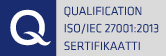Qualification ISO/IEC 27001:2005 Sertifikaatti
